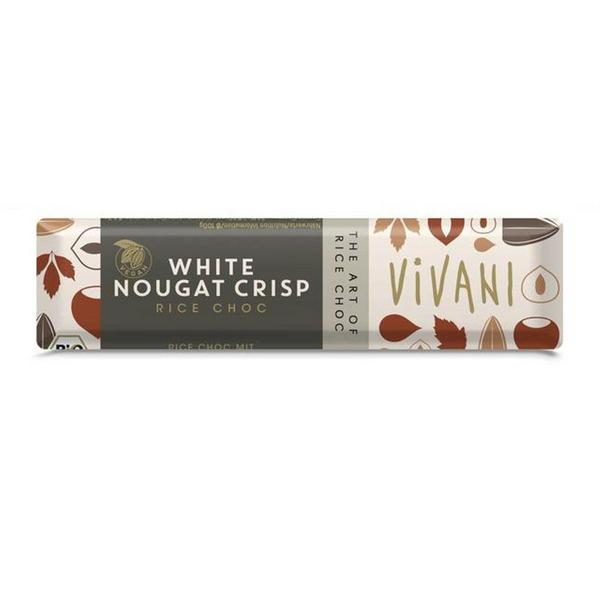 Nougat Crisp Rice White Chocolate Vegan, ORGANIC