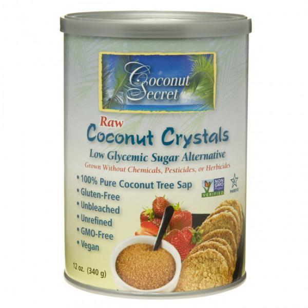 Raw Coconut Crystals Sweetener Gluten Free, Vegan