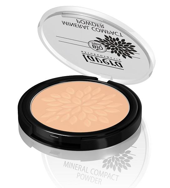 Honey 03 Mineral Powder Compact Make Up Vegan, ORGANIC