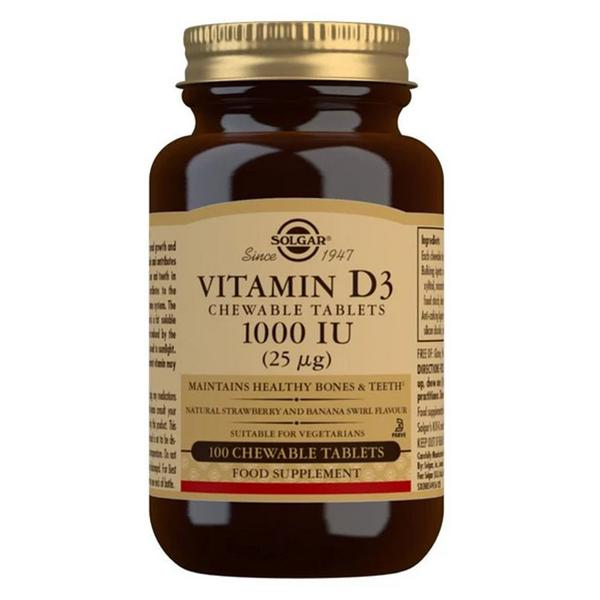 Chewable Vitamin D3 1000 iu Gluten Free