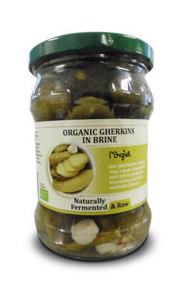 Raw Gherkins in Brine Vegan, ORGANIC
