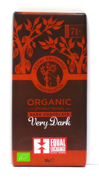 71% Very Dark Chocolate Gluten Free, Vegan, FairTrade, ORGANIC