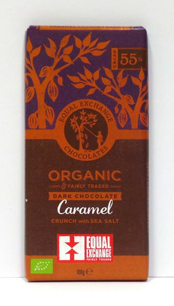 Caramel Crunch & Sea Salt 65% Dark Chocolate Gluten Free, FairTrade, ORGANIC