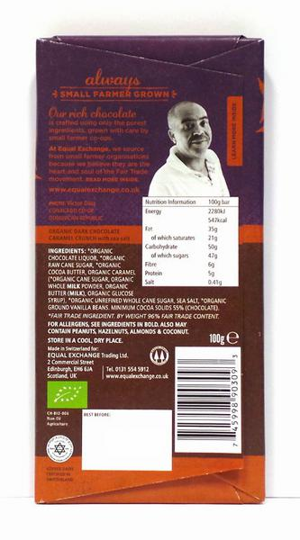 Caramel Crunch & Sea Salt 65% Dark Chocolate Gluten Free, FairTrade, ORGANIC image 2