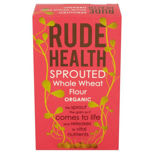 Organic Sprouted Whole Wheat Flour In 500g From Rude Health