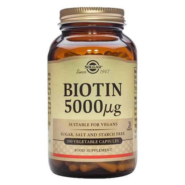 Biotin 5000ug Vitamin B Gluten Free, salt free, sugar free, Vegan, yeast free