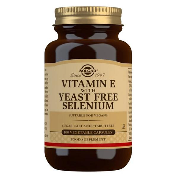 Vitamin E With Selenium In 100vegcaps From Solgar