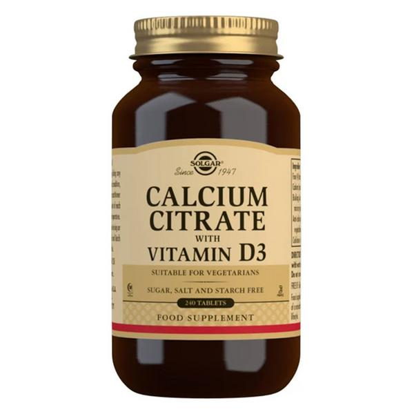 Calcium Citrate With Vitamin D3 Gluten Free, sugar free, yeast free