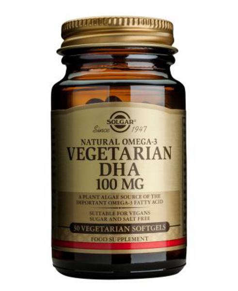 Vegetarian DHA Supplement Gluten Free, salt free, sugar free, Vegan
