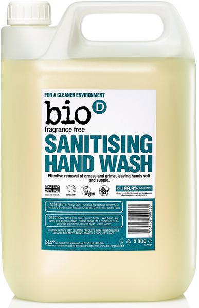 Fragrance Free Sanitising Hand Wash Vegan