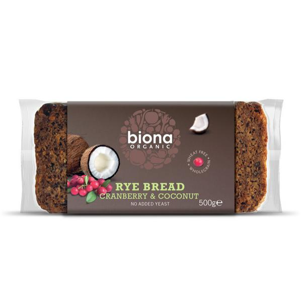 Rye Bread Coconut & Cranberry wheat free, ORGANIC
