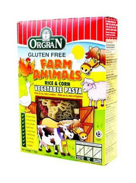 Vegetable Rice & Corn Animal Shape Pasta Gluten Free, Vegan