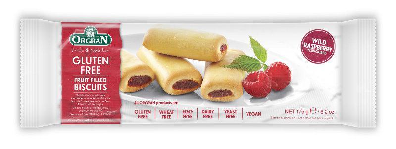 Wild Raspberry Fruit Filled Biscuits Gluten Free, Vegan, yeast free