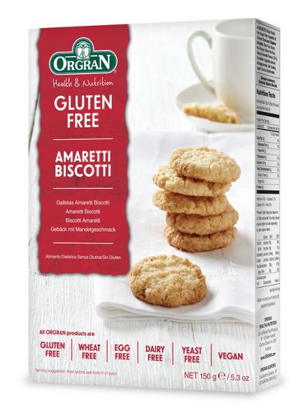 Amaretti Biscotti Gluten Free, Vegan, wheat free