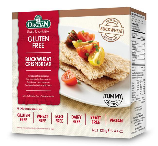Toasted Buckwheat Crispbreads dairy free, Gluten Free, Vegan