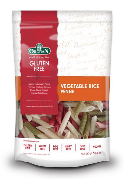 Vegetable & Rice Penne Pasta Gluten Free, Vegan, wheat free