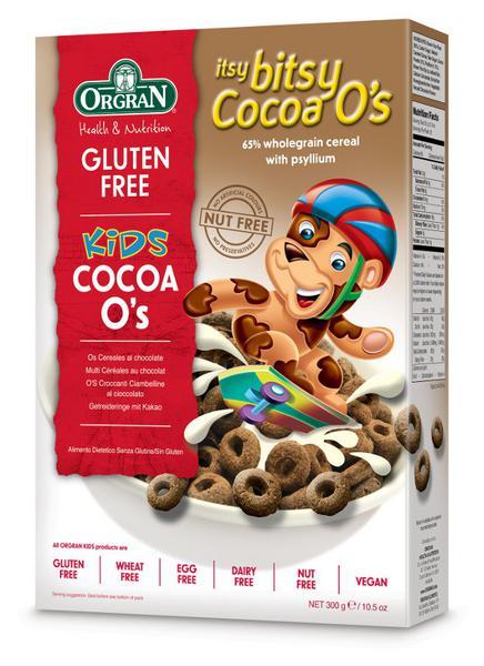 Itsy Bitsy Cocoa O's Cereal Gluten Free, Vegan