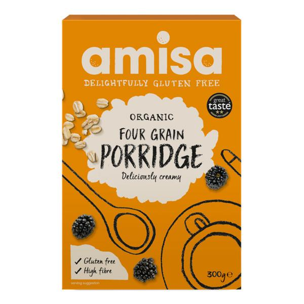 4 Grain Porridge Gluten Free, Vegan, ORGANIC