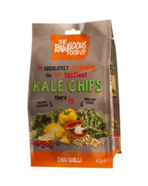 Thai Chilli Twist Kale Chips Gluten Free, Vegan, ORGANIC