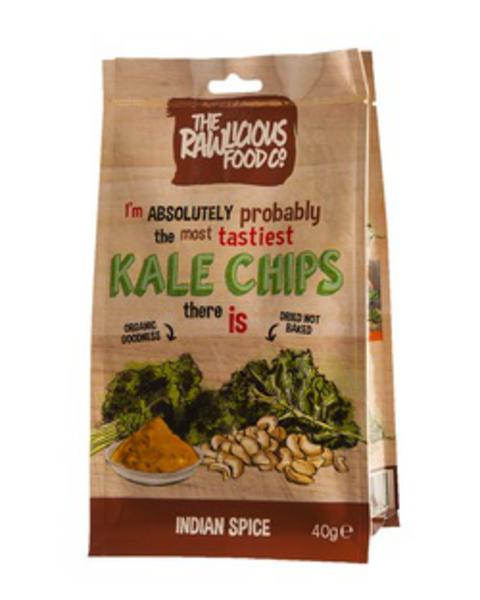 Indian Spice Twist Kale Chips No Gluten Containing Ingredients, Vegan, ORGANIC