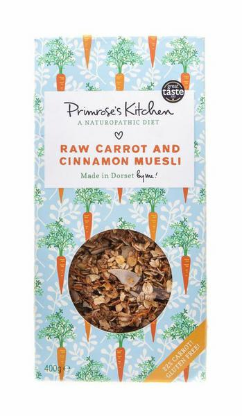 Raw Carrot,Apple & Cinnamon Muesli Gluten Free, Vegan