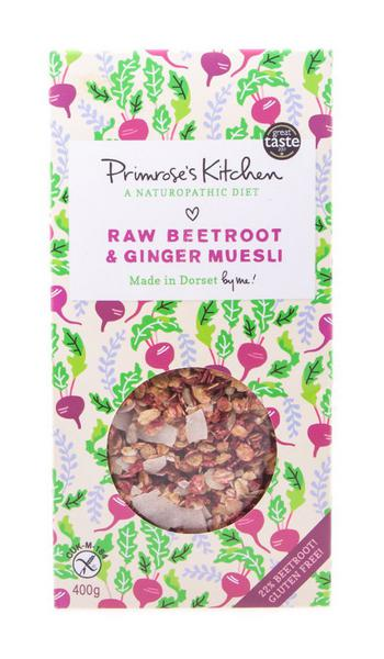Raw Beetroot & Ginger Muesli Gluten Free, Vegan