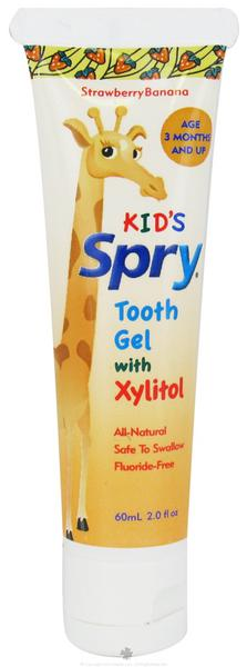 Spry Strawberry & Banana Kids Toothpaste With Xylitol Gluten Free
