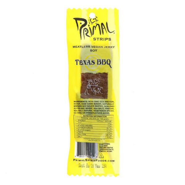 Soy Jerky Texas BBQ No Gluten Containing Ingredients, Vegan