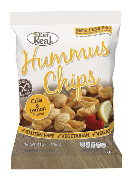 Chilli & Lemon Hummus Chips , Vegan