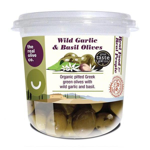 Wild Garlic & Basil Olives Vegan, ORGANIC