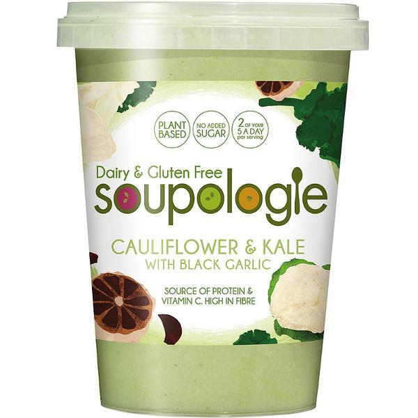 Cauliflower With Black Garlic Soup Gluten Free, Vegan