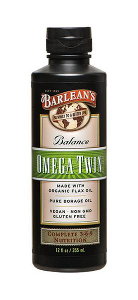 Omega Twin Flaxseed Oil Gluten Free, Vegan