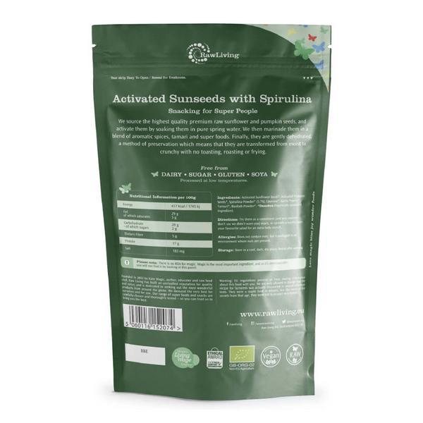 Activated sunseeds with Spirulina dairy free, Vegan, ORGANIC image 2