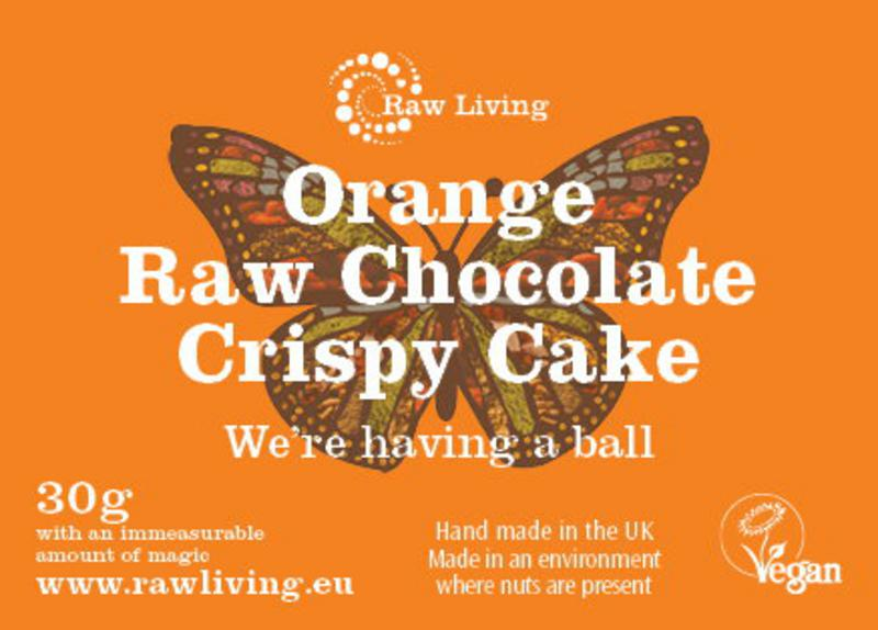 Orange Raw Chocolate Crispy Cakes Vegan