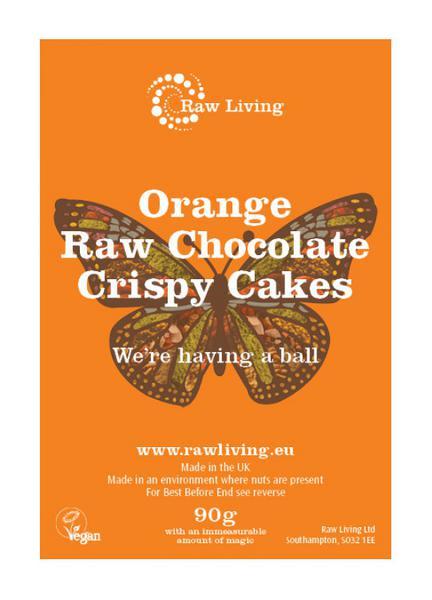 Orange Raw Chocolate Crispy Cakes Vegan