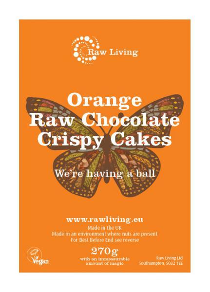 Orange Raw Chocolate Crispy Cakes dairy free, Vegan