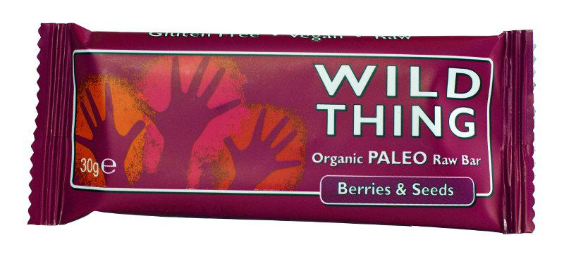 Raw Berries & Seeds Paleo Snackbar Gluten Free, Vegan, ORGANIC