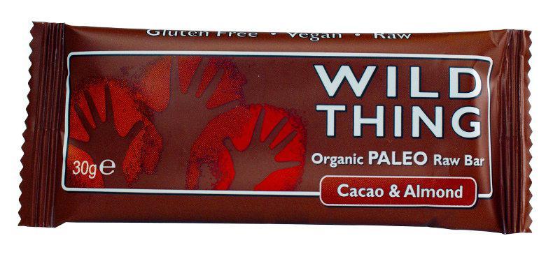 Raw Cacao & Almond Paleo Snackbar Gluten Free, Vegan, ORGANIC