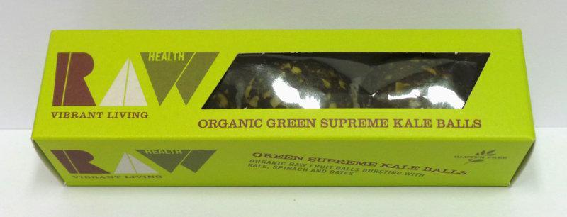 Supreme Kale Energy Balls Gluten Free, no added sugar, Vegan, ORGANIC