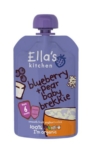 Blueberry & Pear Baby Brekkie Baby Food , ORGANIC