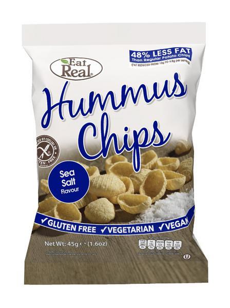 Sea Salt Hummus Chips , Vegan, wheat free