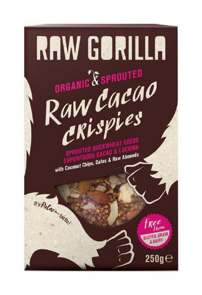 Cacao Raw & Sprouted Crispies Cereal Gluten Free, Vegan, ORGANIC