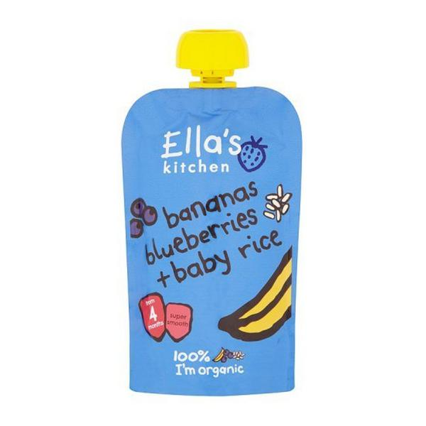 Banana,Blueberry & Rice Baby Food