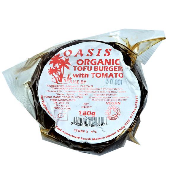 Tomato Tofu Burger , Vegan, ORGANIC