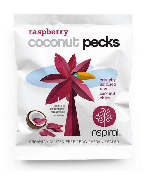 Raspberry Coconut Pecks