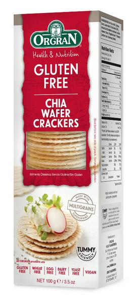 Multigrain Wafer Crackers With Chia Gluten Free, Vegan