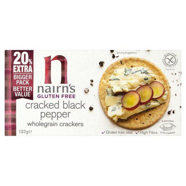 Cracked Black Pepper Crackers Gluten Free