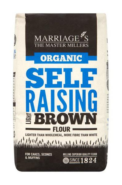 Light Brown Self Raising Flour Vegan, ORGANIC