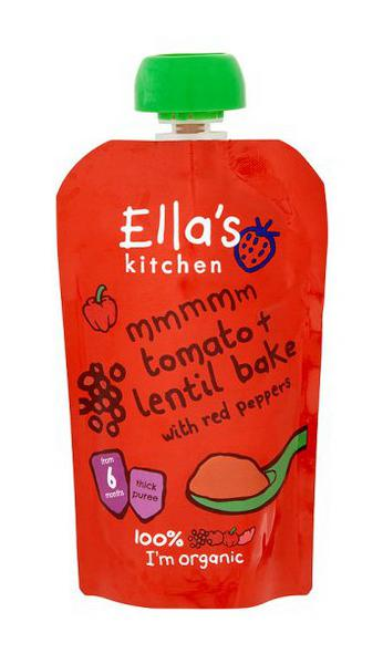 Tomato & Lentil Bake with Red Peppers Baby Food no added salt, no sugar added, ORGANIC