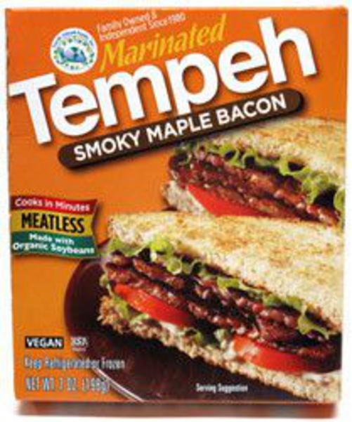 Smoky Maple Bacon Tempeh Meat Substitute Vegan
